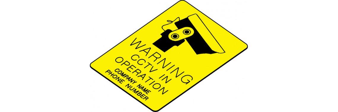 Engraved CCTV Sign