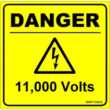 100 Swift 000V2 DANGER 11,000 Volts Labels