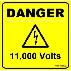 100 Swift 000V2 DANGER 11,000 Volts Labels