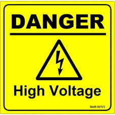 100 Swift 001V2 DANGER High Voltage Labels