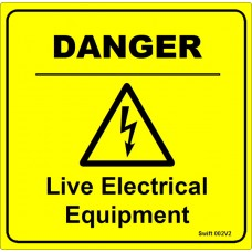 100 Swift 002V2 DANGER Live Electrical Equipment Labels