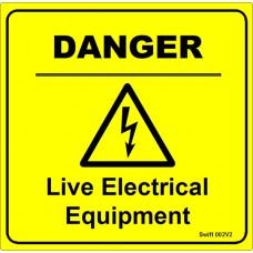 100 Swift 002V2 DANGER Live Electrical Equipment Labels
