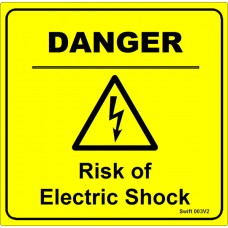 100 Swift 003V2 DANGER Risk of Electric Shock Labels