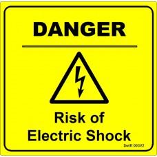 100 Swift 003V2 DANGER Risk of Electric Shock Labels