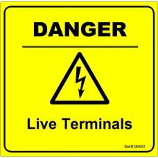 100 Swift 004V2 DANGER Live Terminals Labels