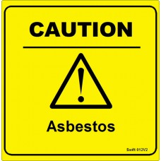 100 Swift 012V2 CAUTION ASBESTOS LABELS