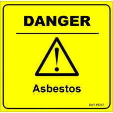 100 Swift 013V2 DANGER Asbestos Labels