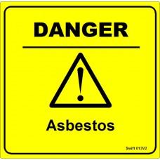 100 Swift 013V2 DANGER Asbestos Labels