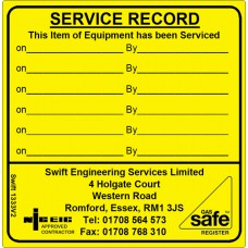 100 Swift 1333V2N Equipment Service Record