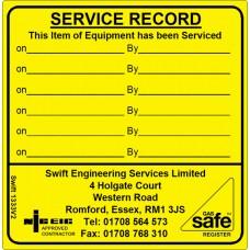 100 Swift 1333V2N Equipment Service Record