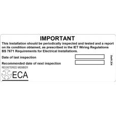 100 Swift 204 ECA Periodic Test Labels
