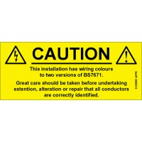100 Swift 300AV3 Caution Harmonised Cables Labels