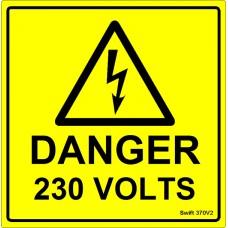 100 Swift 370V2 Danger 230 Volts Labels