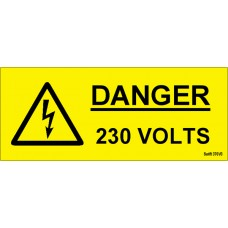 100 Swift 370V3 Danger 230 Volts Labels