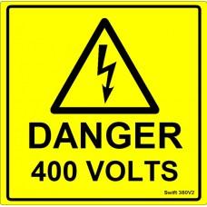 100 Swift 380V2 Danger 400 Volts Labels