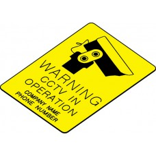 Swift WCO32E Engraved Sign WARNING CCTV IN OPERATION
