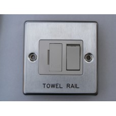Swift SPM TR4B Single Metal Plate &#39TOWEL RAIL&#39 4mm Black