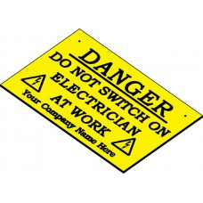 Swift DL14090CH Personalised Engraved Danger label