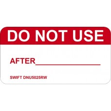 250 Swift DNU5025RW Do Not Use After Labels