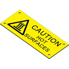 Swift EL10040BY CAUTION HOT SURFACES Engraved label