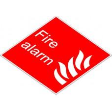 Swift FA1515E Fire Alarm Sign with Flames