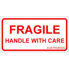 150 Swift FHCB5025 Fragile Handle with Care Labels