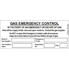 100 Swift GEC14058V3 Gas Emergency Control Labels