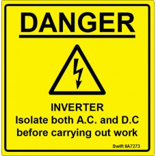 100 Swift IIA7273 INVERTER Isolate both AC and DC Labels