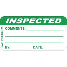 250 Swift INS5025GW Inspected Labels