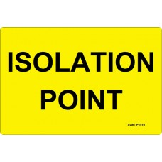 100 Swift IP1510 ISOLATION POINT Label