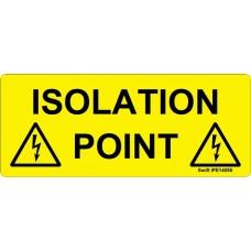 100 Swift IPE14058 ISOLATION POINT Label