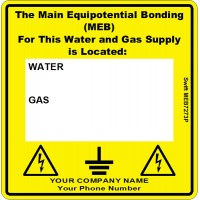 100 Swift MEB7273P Main Equipotential Bond Label MEB Personalise