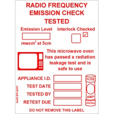 150 Swift MTL6446 Microwave Test Labels