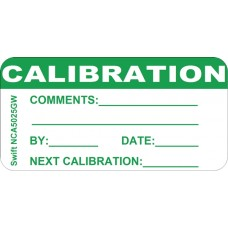 250 Swift NCA5025GW Calibration Labels