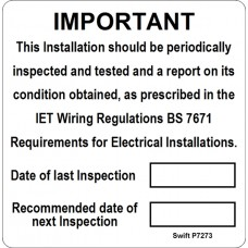 100 Swift P7273 Periodic Test Labels