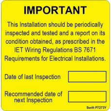 100 Swift P7273Y Periodic Test Labels