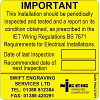 100 Swift PNA7273PY NICEIC Approved Contractor Periodic Test