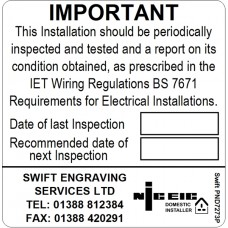 100 Swift PND7273P NICEIC Domestic Installer Periodic Test