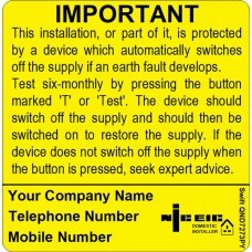 100 Swift SND7273PY NICEIC Domestic Installer Six Monthly Test