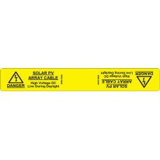 102 Swift SPDC18025 Label Wrap DANGER Solar PV Array Cable