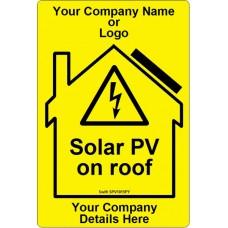 100 Swift SPV1015Y Solar PV on roof label