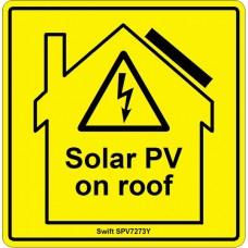 100 Swift SPV7273Y Solar PV on roof label