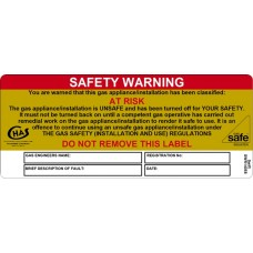 100 Swift SWR14058 SAFETY WARNING AT RISK Labels
