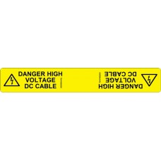 102 Swift TDHV18025DC DANGER HIGH VOLTAGE LIVE DC CABLES.