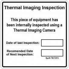 100 Swift TIC7273 Thermal Imaging Inspection Labels