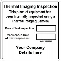 100 Swift TIC7273P Personalised Thermal Imaging Inspection Label