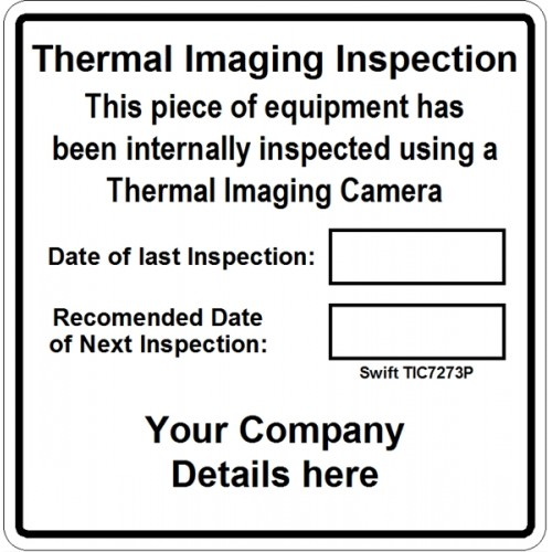 Green Extra Large Personalised Periodic Inspection Labels in Full Colour
