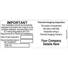 100 Swift TIC/P14058 Thermal Imaging and Periodic Test label