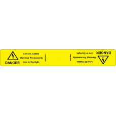 102 Swift TWPL18025 DANGER- Live DC Cables. Permanently Live in