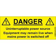 100 Swift UPS14058V3 Uninterruptible Power Source Labels